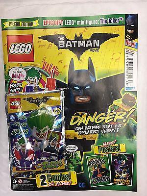 Lego BATMAN MOVIE Magazine ISSUE 2 MAY 2017 FREE LIMITED EDITION JOKER MINIFIGUR