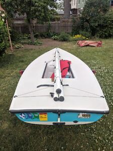Laser 1 sailboat w/ trailer and beach dolly