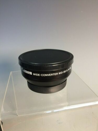 Canon Wide Converter WD-58 0.7x58 w/bag & lens covers