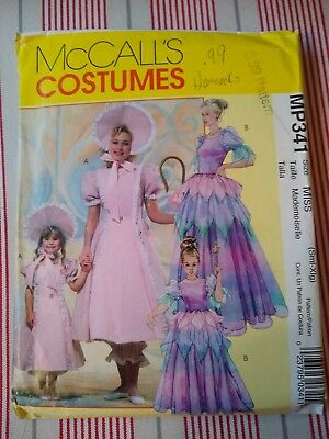 Little Girl Halloween Costume Patterns (McCall's Costumes Pattern MP341 Little Bo Peep and Fairy Princess Size S -)