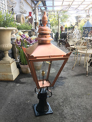 Pier lights, Gate post lanterns LARGE Victorian Style copper colour Lantern