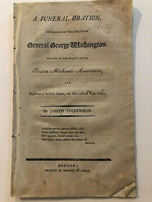 1800 Funeral Oration Death of George Washington