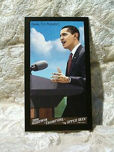 SCARCE President BARACK OBAMA mini BLACK BORDER  parallel 2009 Goodwin Champions