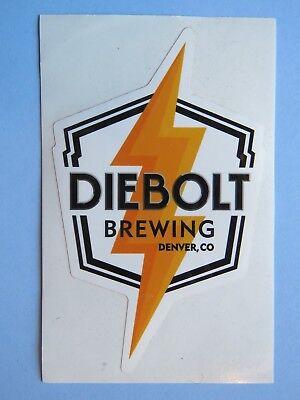 Beer STICKER ~*~ DIEBOLT Brewing Co ~ Denver, COLORADO ** 100s More in STORE (Stores In Denver Co)