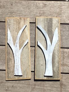 Recycled Hardwood Garden Wall Plaques