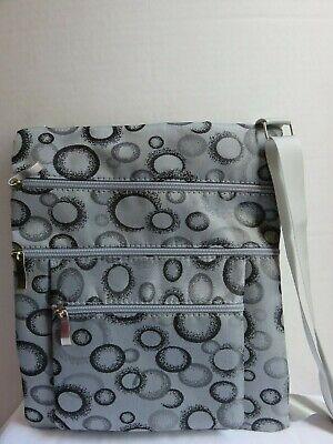 Gray Geometric Crossbody Bag Shoulder Purse Grey Silver Handbag Purse Organizer