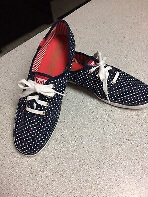 Keds Womens Champion Stripes (Womens KEDS Patriotic Champion Sneakers Red White Blue Stars & Stripes Size 8)