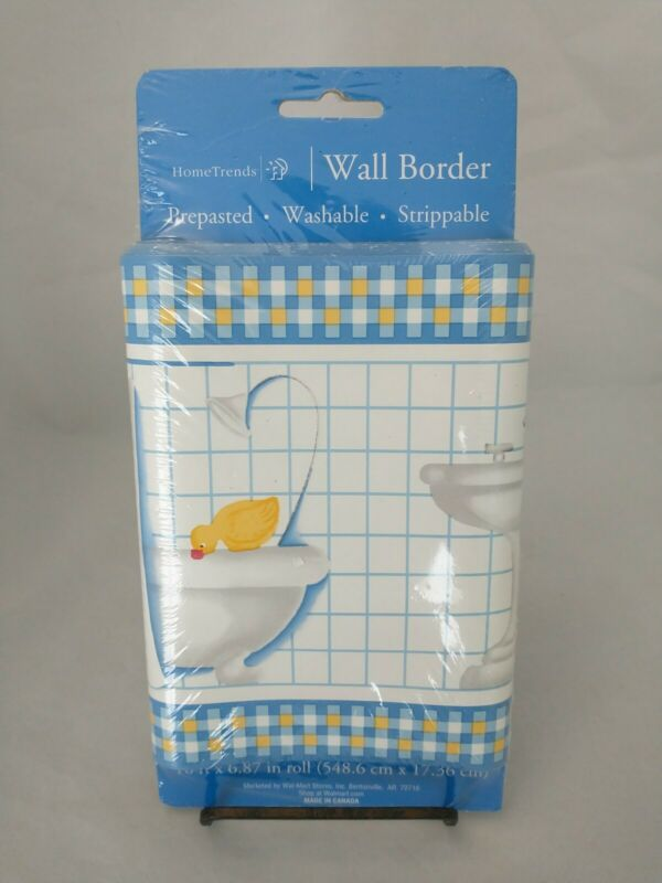 Ducky Wall Border 18ftx6.8in Washable Prepasted Home Decor Bathroom Home Trends
