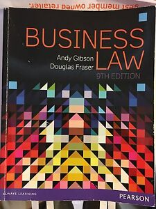 Business Law Gibson 9th Edition Joondalup Joondalup Area Preview