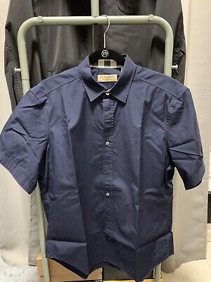 Burberry Button Down Short Sleeves Shirt Men Size Large