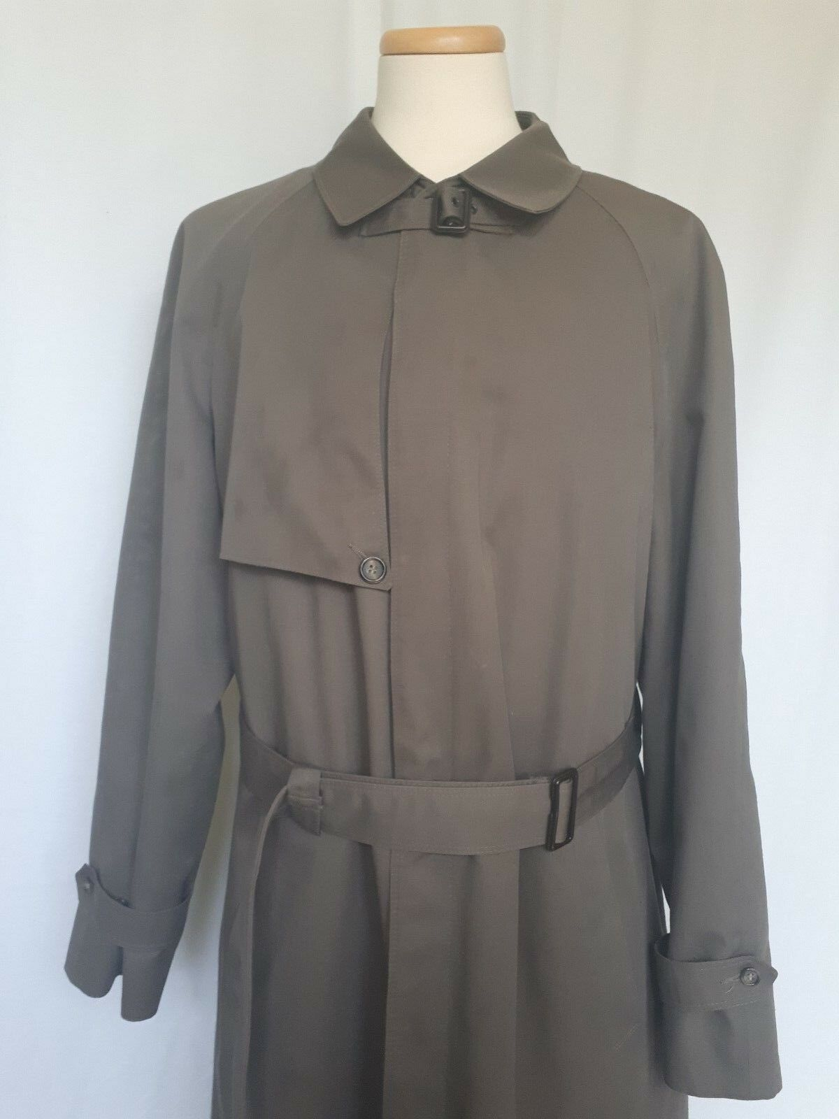 Men's CHRISTIAN DIOR Monsieur Olive Green Trench C