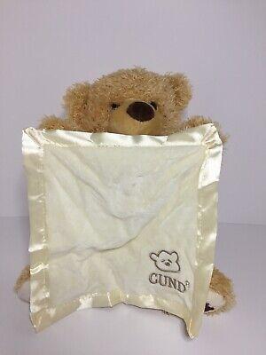 "Baby Gund Animated Talking Peek-A-Boo Bear Plush Stuffed Animal 10"""