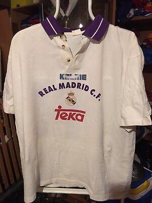 Polo Camiseta Futbol Vintage Real Madrid Kelme Teka