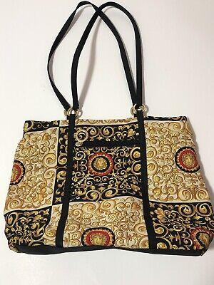 Rare Vtg Gianni Versace Baroque 90s Tote Bag