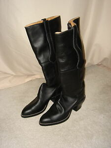 Black Leather Horse riding boots-size 10