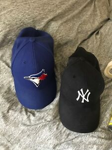 47 hats: Yankees and blue jays