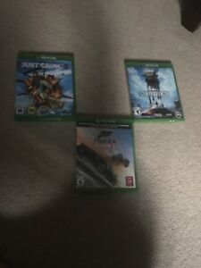 Xbox one games Forza just cause and Star WarsBattlefront