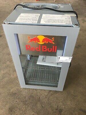 Red Bull Double Glass Door Countertop Display Refrigerator New