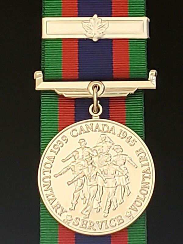 WW2 Canadian Volunteer Service Medal with Overseas Clasp, Reproduction
