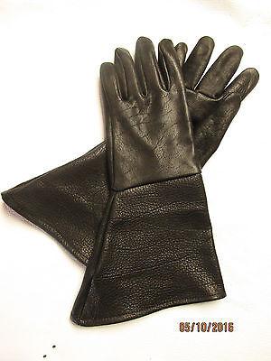 MEN'S BLACK AMERICAN BISON GAUNTLET GLOVES - HEAVY DUTY/TOUGH - MADE IN USA](Gauntlet Gloves)