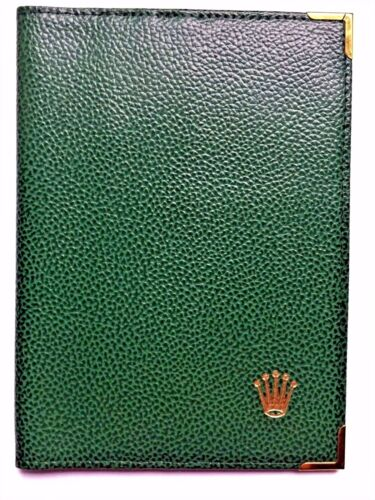 Rolex Green Leather Passport Holder and Card Wallet 68.08.55