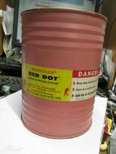 [TB] vintage Hercules red dot powder Keg can 3 lb. empty no powder