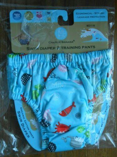 Charlie Banana Swim Diaper / Training Pants Medium 14-20lbs Blue Florida
