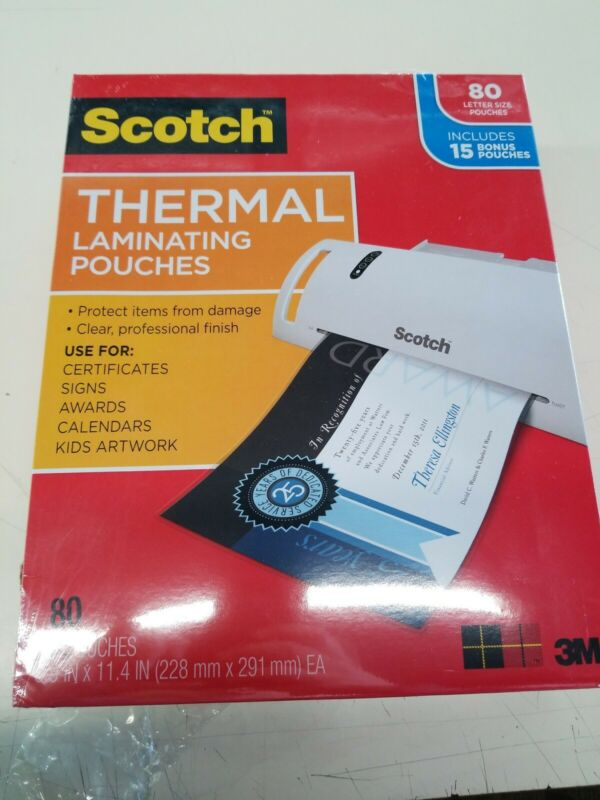 Scotch Thermal Laminating Pouches - 65 Pouches (5 packs)