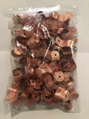 Lot Of 100 12 Od 58two Hole Copper Fitting Pipe Tube Strap Plumbing