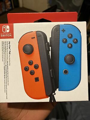 Nintendo Switch Joy-Con Pair Wireless Controllers Neon Red Blue OFFICIAL NEW