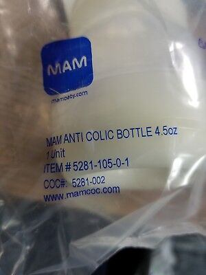 MAM Anti-Colic Baby Bottle 4.5oz  BRAND NEW