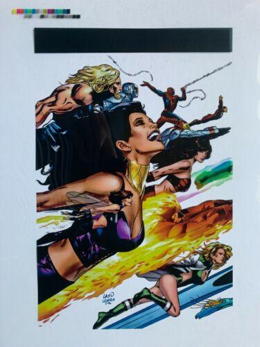 Color Production Art ULTIMATE POWER #9 cover, GREG LAND art, 8.5x11