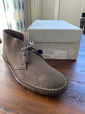 NIB J. Crew MacAlister Suede Boots Shoes Anchor Grey Size 8 #79438