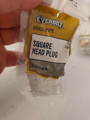Brass Fittings Brass Plug Square Head Male Pipe 38 Qty. 2k2