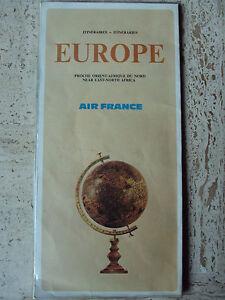 AIR FRANCE CARTE DEPLIANT EUROPE - AFRIQUE - ORIENT - France - AIR FRANCE 1967 CARTE - DEPLIANT PLASTIFIE EUROPE - PROCHE ORIENT - AFRIQUE DU NORD CARTE PLIEE 30X15 ETAT D'USAGE - France