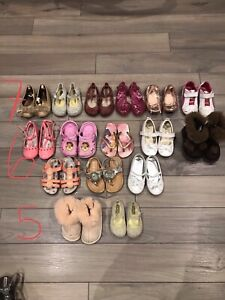 Toddler girls shoes - size 5,6,7