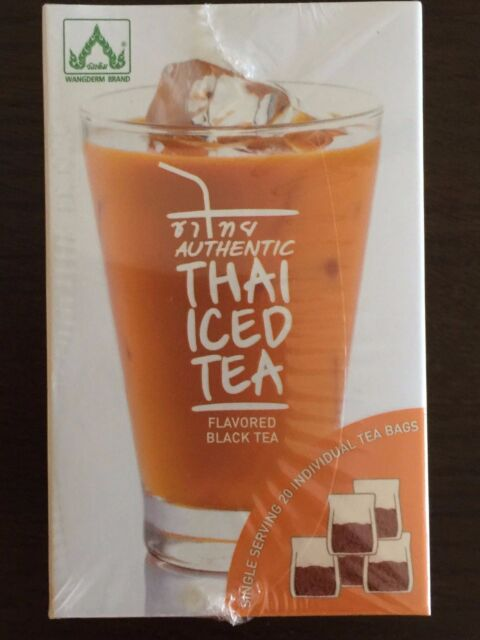 Authentic Thai Iced Tea Flavored Black 20 Bags New