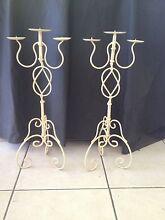 Pair of french provincial style candle hokders candellabras Parkwood Gold Coast City Preview