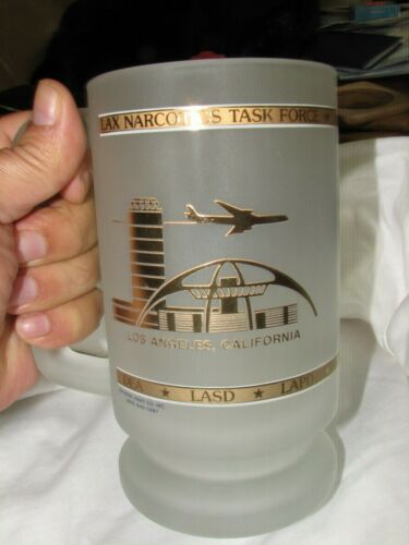LAX Narcotics task force DEA LASD LAPD  frosted beer drink mug glass