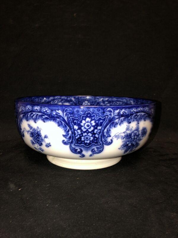 "9 1/8"" Flow Blue Pedestal Bowl"