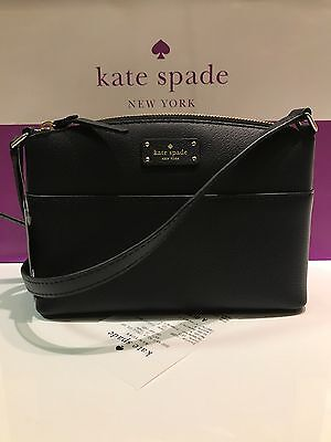 NWT Kate Spade Millie Grove Street Black Leather Crossbody Bag Shoulder Handbag