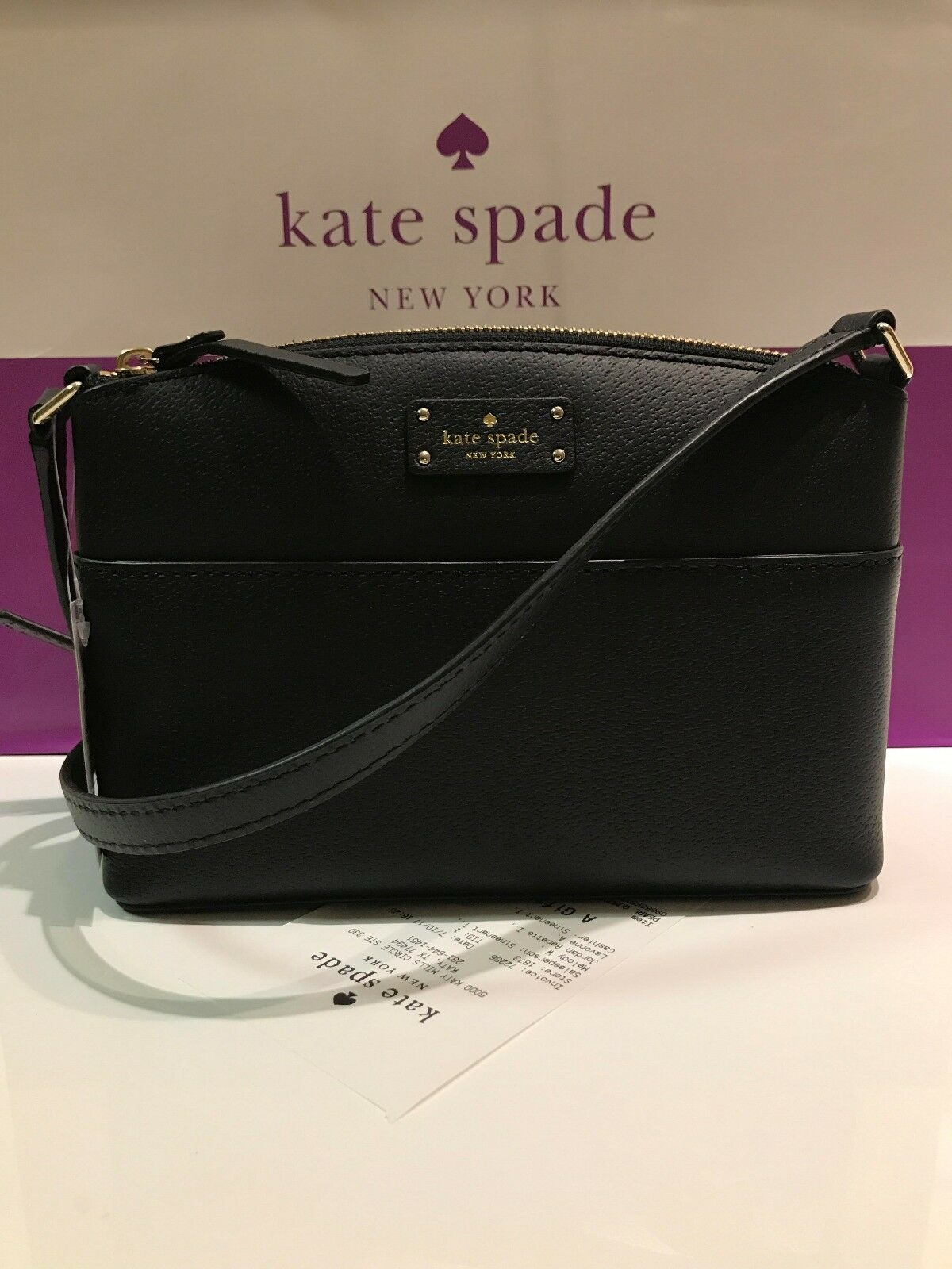 Bag - NWT Kate Spade Millie Grove Street Black Leather Crossbody Bag Shoulder Handbag