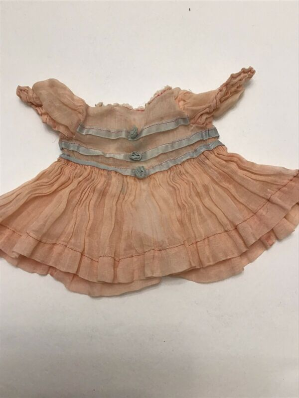 Vintage Doll Dress Ideal Vogue Bisque Effanbee French German Alexander Pink