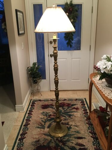 Vintage Brass Stacked Ball Floor Lamp