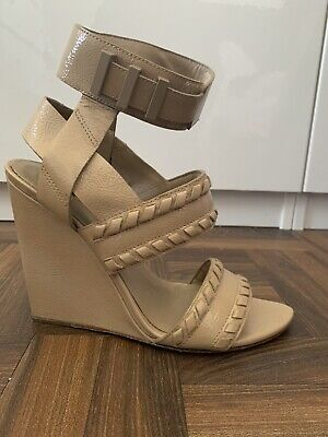 Alexander Wang Patent Wedge Sandals Size 39