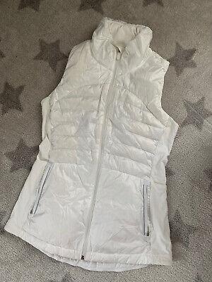 Lululemon Down For A Run Vest  New White Goose Down fill Size 6