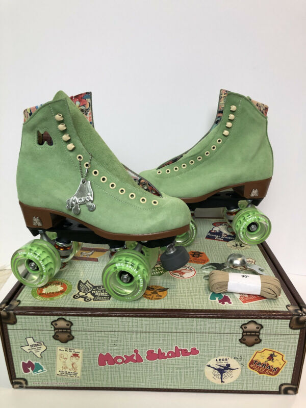 Moxi Lolly Honeydew Green Roller Skates Size 6 (Women's 7-7.5) Brand New