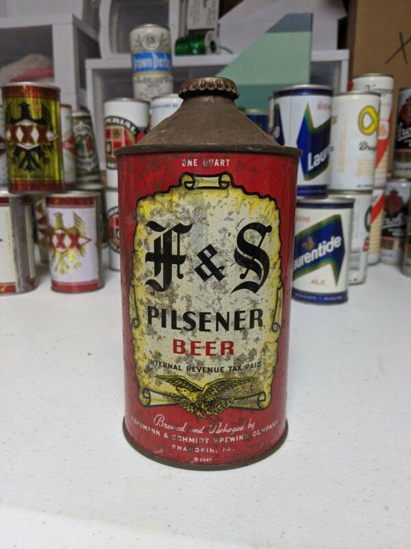 F&S Pilsner Quart Cone Top 209-07 Furhmann & Schmidt Brewing