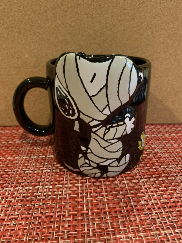 Large 20 Oz Snoopy Woodstock Halloween Mummy Mug