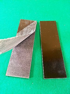 2 - .187 BLACK COARSE TEXTURED G10 KNIFE HANDLE MATERIAL SCALES - G-10  for sale  Wheeling